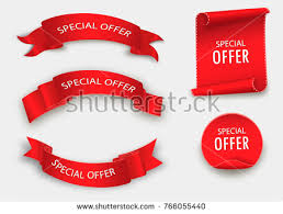 ribbon sale free vector origami sale ribbons free vector stock