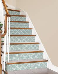 Stick And Peel Wallpaper by Make Your Stairs Look Pretty Blue Links Peel And Stick Wallpaper
