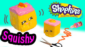 diy rare shopkins season 2 carrie carrot cake squishy toy craft