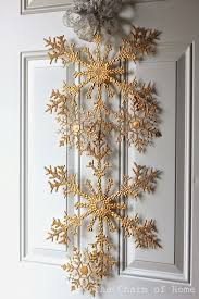 the charm of home dollar tree snowflake door hanging