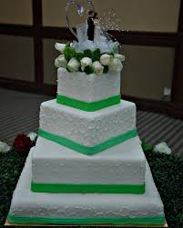 Wedding Cake Green Colorful And Floral Patterned Cake Varieties And Wedding Cake