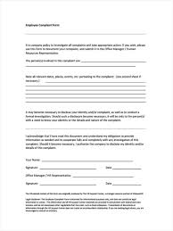 Format Of A Formal Letter Of Complaint by 6 Hr Complaint Forms Free Sample Example Format Download