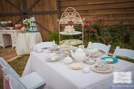 Shabby Chic Wedding Shower by Shabby Chic Bridal Tea Party Table Setting Dolce Designs