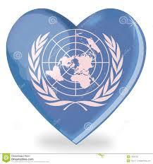 United Nation Flag United Nations Flag Heart Shape Stock Illustration Image 21905720