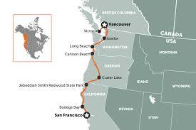 map of usa west coast west coast usa road trip travel nation