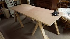 Diy Door Desk My Diy Project A Sawhorse Style Door Desk I Made With My