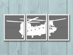 Transportation Nursery Decor 8x10 3 Nursery Helicopter Prints Nursery Nursery Decor