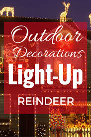 Christmas Yard Decorations 38 Best Light Up Reindeer Outdoor Decorations Images On Pinterest
