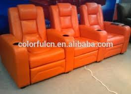top quality purple recliner sofa in leather vip cinema sofa ls811