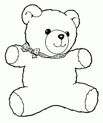 teddy bear doll coloring pages kids coloring pages