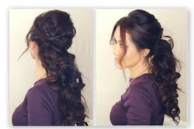 updos for curly hair i can do myself easy half up half down hairstyle tutorial fancy prom curly
