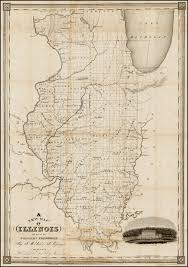 Maps Of Illinois by A New Map Of Illinois And Part Of The Wisconsin Territory By J W