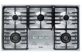 Miele Cooktop Parts Miele Stainless 5 Burner Natural Gas Cooktop Km3475g