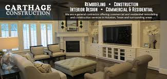 Construction Interior Design by Carthage Construction Houston General Contractor Remodeling