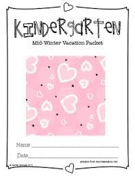 kindergarten mid winter vacation packet by rachel delicate tpt