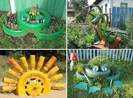 Diy Craft Projects For The Yard And Garden - 40 diy repurpose tire animals for the garden gardening