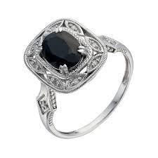 black sapphire engagement rings sapphire rings h samuel