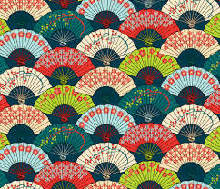 japanese fans japanese fans bright patterns fabric pinkowlet spoonflower