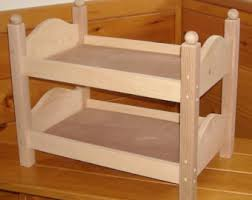 Hand Made Bunk Beds by Wooden Doll Bunk Bed Etsy