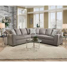 Upholstery Sectional Sofa Simmons Venture Smoke Fabric Sectional Hayneedle