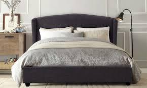 Bed Frame Australia Venezia Fabric Wing Bed Frame Groupon Goods