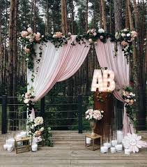 wedding arch backdrop altar for a rustic meets shabby chic wedding rustic