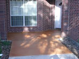 Painting A Wall To Look Like Brick Retro Calm Brown Painted Concrete Floor Designs Patio Ideas