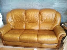 canape cuir et bois achetez canapé cuir et bois occasion annonce vente à cléville 76