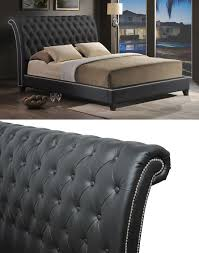 King Bed Leather Headboard by Beautiful Jazmin Tufted Modern Bed With Upholstered Headboard 18