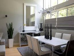 white dining rooms decorate the black and white dining room by placing plants