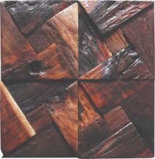 tst dark wood wall triangle blocks arched wall panel decor art