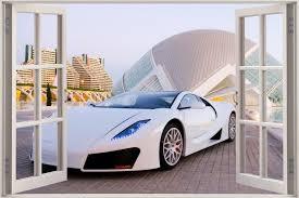 wallpaper decal wallpapersafari window exotic sports car view wall stickers