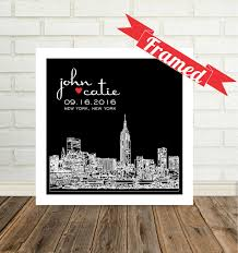 new york skyline wedding gift personalized new york city