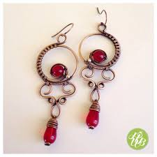 Wire Chandelier Earrings 1 Deep Red Chandelier Earrings Wire Wrapped Crystal Earrings Red