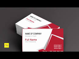 Youtube Business Card Adobe Photoshop Cc 2017 Cool Creative Business Card Youtube