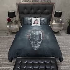 faux denim stars and stripes skull bedding ink and rags