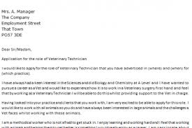 veterinary technician cover letter personal care assistant advice
