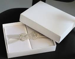 Box Wedding Invitations Elegant White Silk Boxed Wedding Invitation With Buckles And