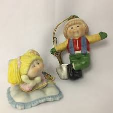 vintage cabbage patch 2 ornaments 1984 the legend 3 5 inches