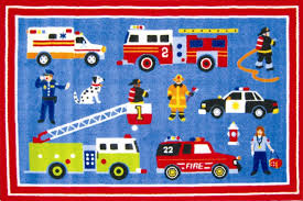 Fire Truck Nursery Decor by Rescue Heroes Fire Truck Police Car Toddler Crib Bedding 4pc