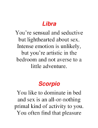 Primal Sign What Does Your Zodiac Sign Say About Your Bedroom Skills