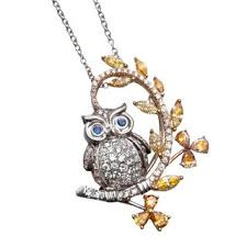 gold owl pendant necklace images Kerns jewelers necklaces and pendants diamonds gemstones jpg