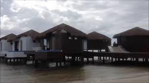 el dorado maroma beach mexico over water bungalow construction
