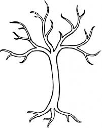 amazing tree without leaves coloring page pertaining to motivate