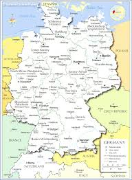 map of countries surrounding germany germany political map with capital berlin national borders most