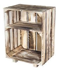 regal kisten geflammte kisten nachttisch mit boden geflammt 30 5x40x54cm