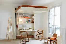 chambre loggia loft bed and space saving interior design espace loggia