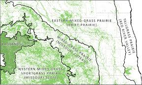 missouri breaks map mixed grass prairie missouri coteau dakota and fish