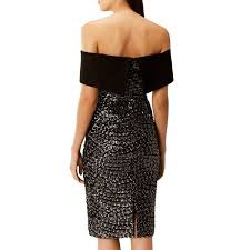 coast dresses dresses uk black sequin serena bardot dress coast dress online