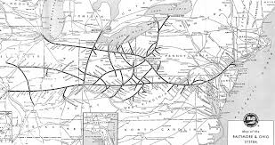 map us railroads 1860 baltimore and ohio railroad